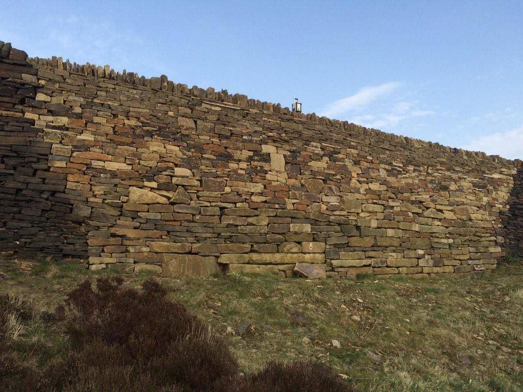Judd dry stone wall repair done