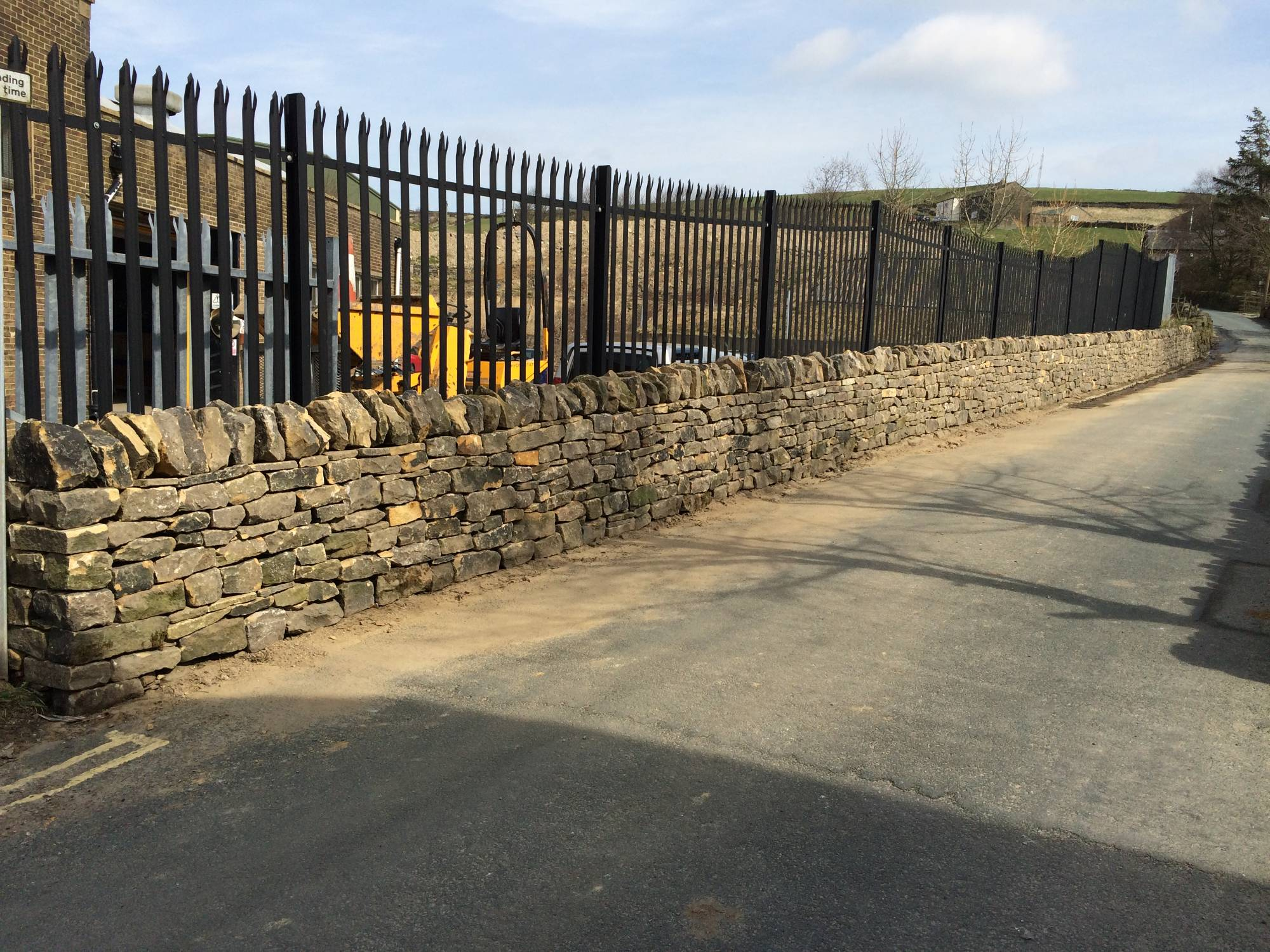 A commercial dry stone walling project finished