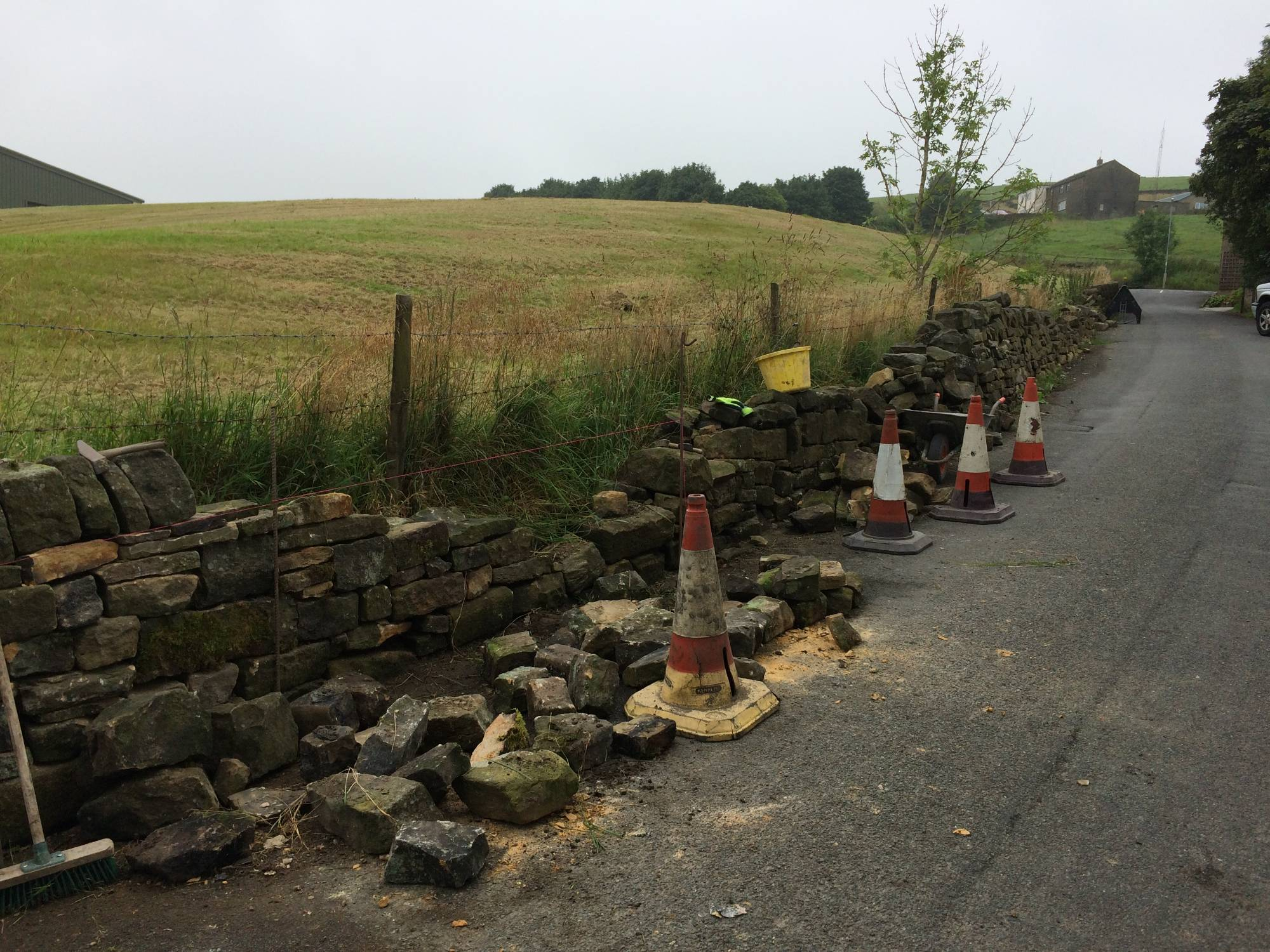 A broken dry stone wall
