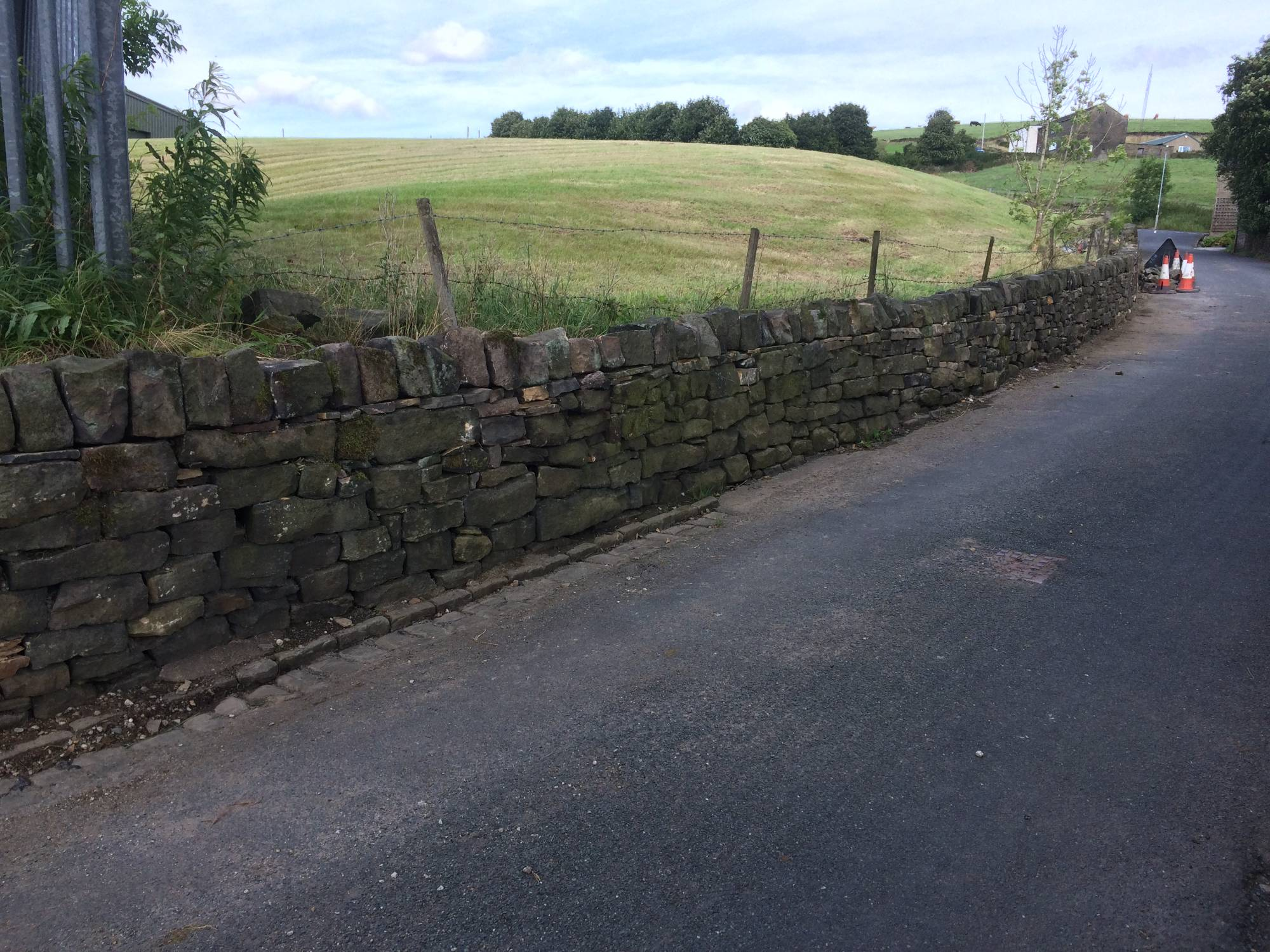A new dry stone wall